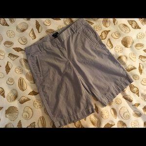 J. Crew Shorts - Blue and white striped J.Crew Bermuda shorts